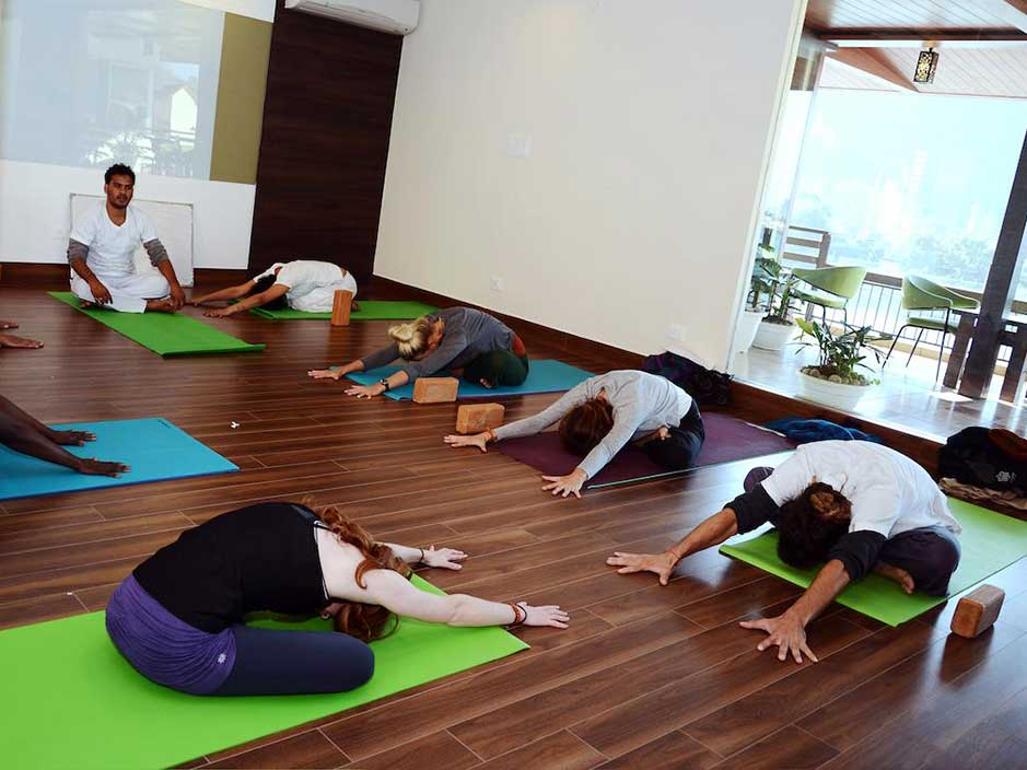 Yoga Classes at Sanskriti Ramjhula Rishikesh India